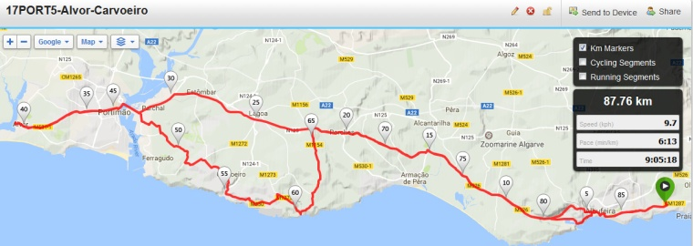 Portugal Trip Willow Wheelers Cycling Club - Portugal map carvoeiro